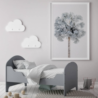 Blue Palm Tree Print   Little Crown Interiors Shop