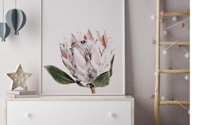 Floral Art Prints Bring Big Blooms into the Nursery