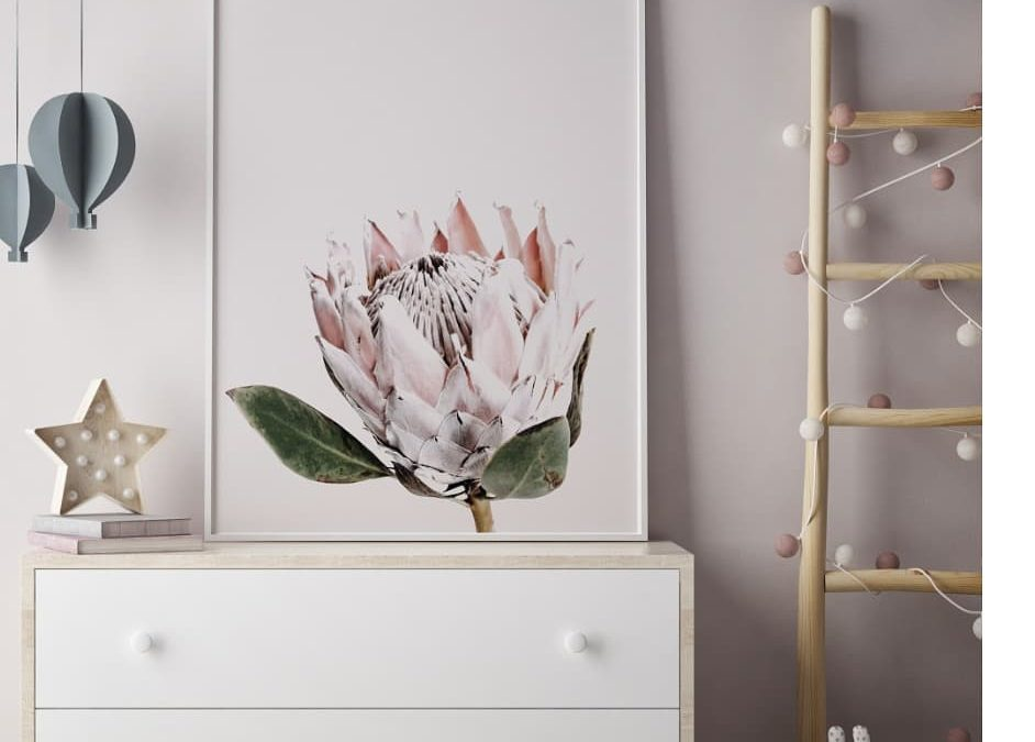Floral Art Prints Bring Big Blooms into the Nursery