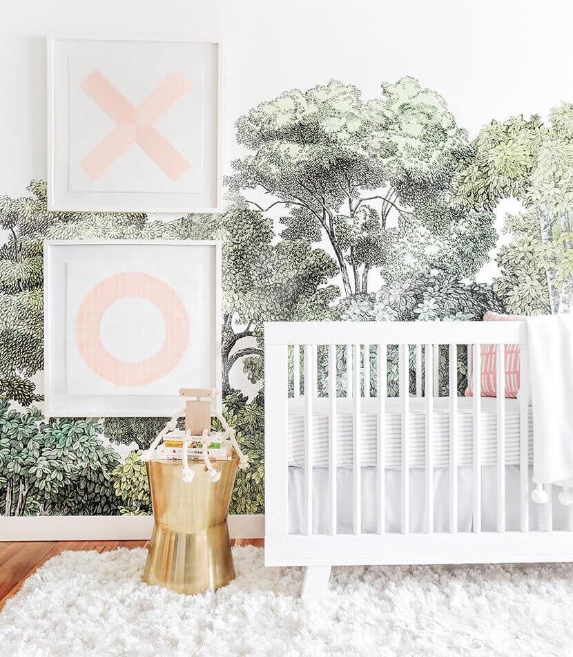 My Favorite Nursery Wall Murals | Little Crown Interiors