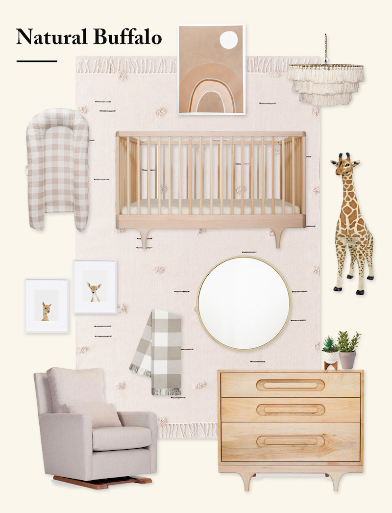 Neutral Nursery Design Board by Little Crown Interiors for DockATot