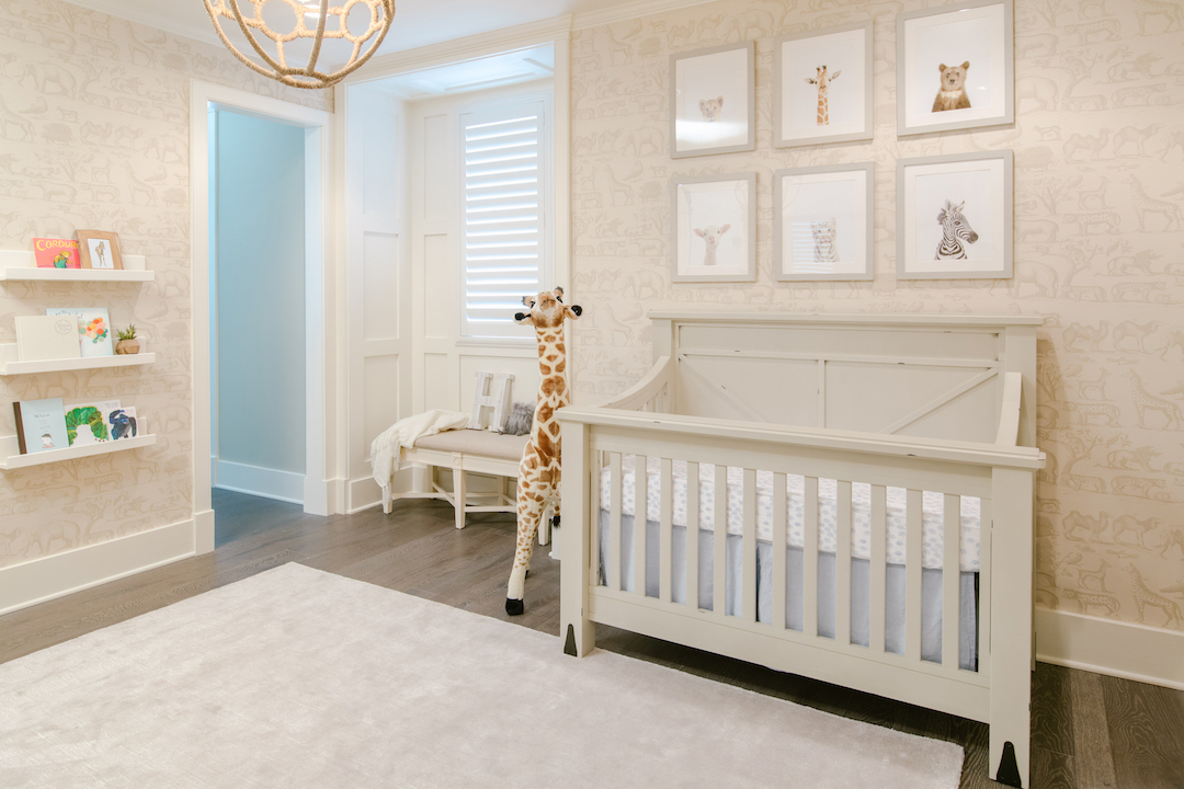 Neutral Safari Wallpaper Nursery