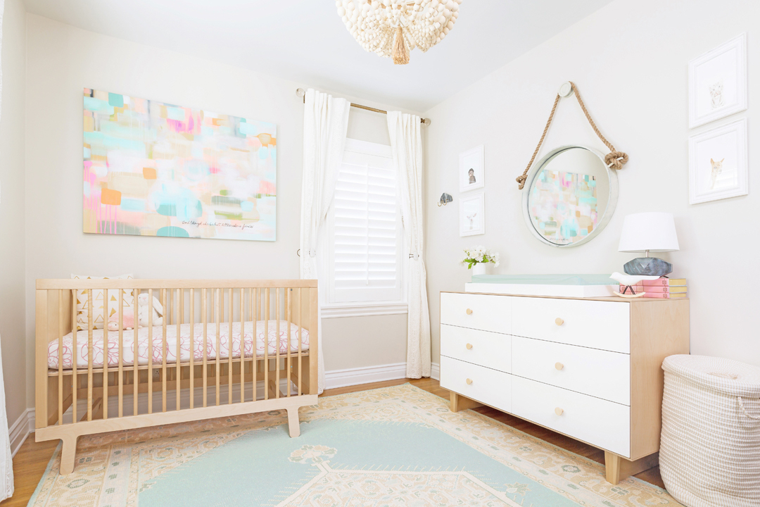 neutral pastel nursery