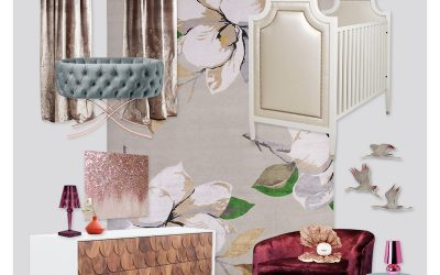 A Fashion Inspired Nursery Design: Sequin Delight!