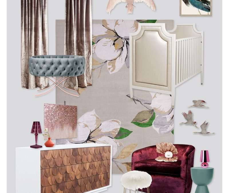 A Fashion Inspired Nursery Design: Sequin Delight!