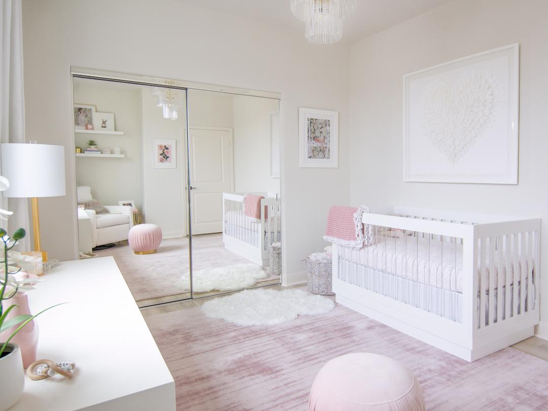 White & Blush Nursery by Little Crown Interiors