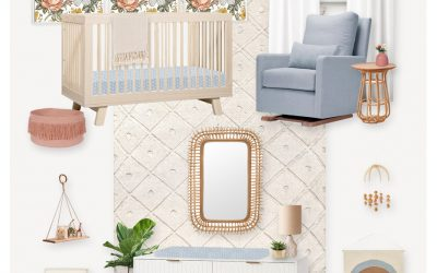 E-Design Reveal:  A Neutral Nursery with Floral and Scandinavian Touches