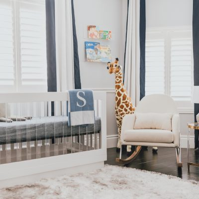 Modern Boy's Nursery by Little Crown Interiors