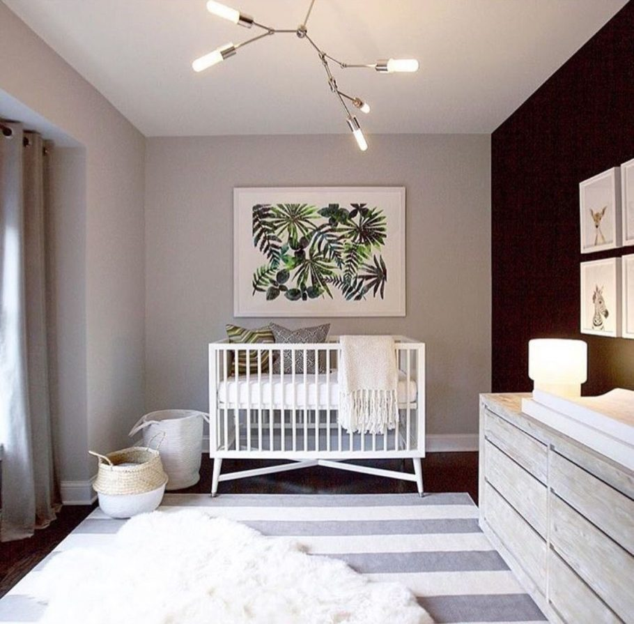 Gray Minimalist Nursery Design