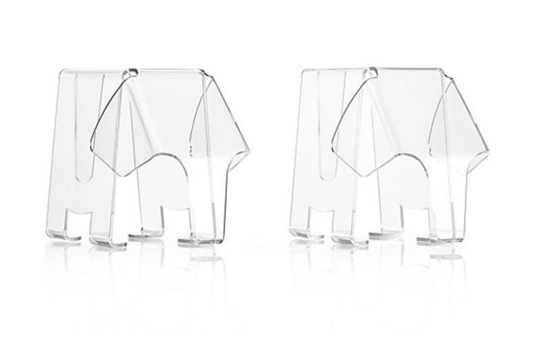 Acrylic elephant figurines