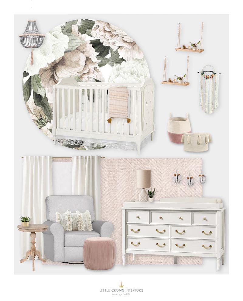 Blush Nursery With Neutral Textures: Interior Design Portfolio